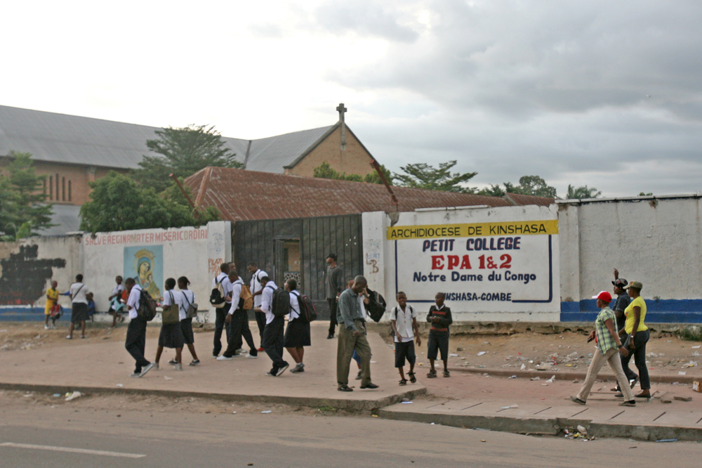 The number of public schools in the DRC capital, Kinshasa, is lower than that of private schools