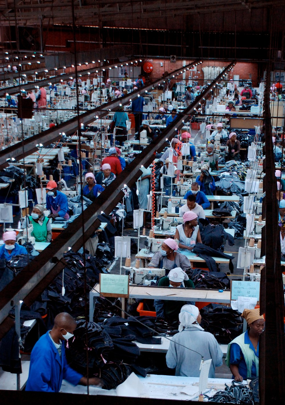 Lesotho's textile industry is the country's largest employer and constitutes close to 20 percent of GDP