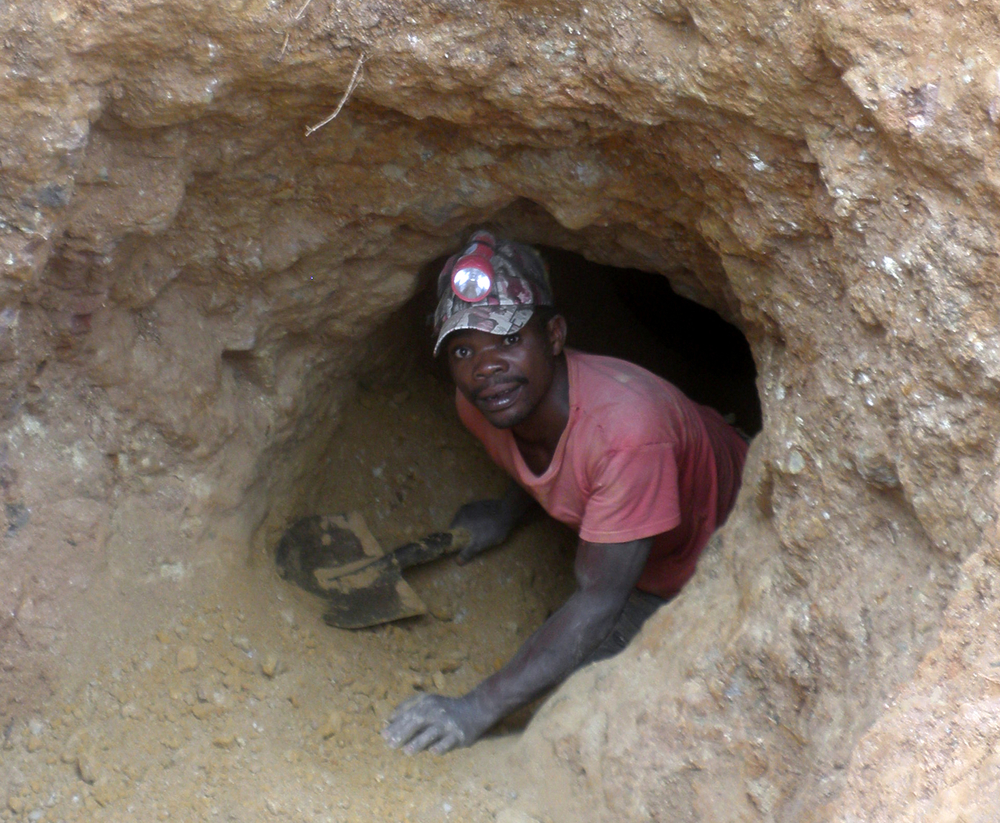 An artisanal miner in Mwenga, South Kivu, eastern Democratic Republic of Congo