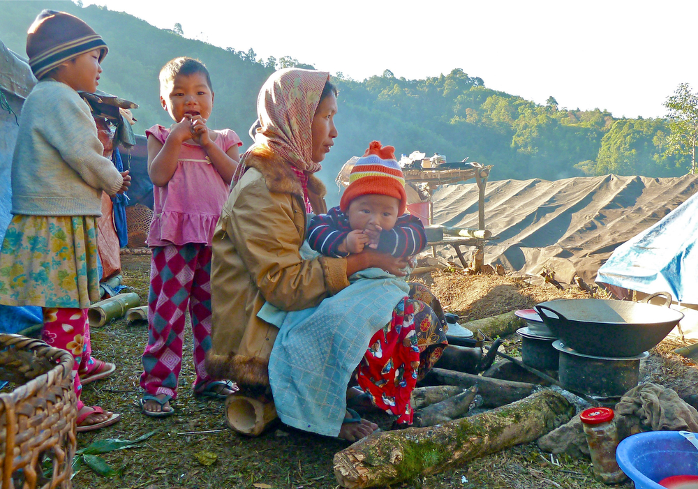 A scene at the Warabung displaced persons camp in Kachin State, northern Myanmar December 2011