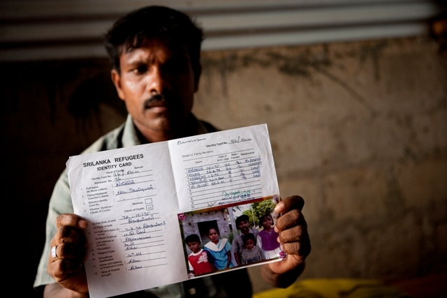 Sebastian Kingsley, a Sri Lankan refugee who fled in the 1990's was staying in a camp in South Indian state of Tamil Nadu, until he returned voluntarily with the help of UNHCR in 2010. He now lives in the Trincomalee District along with his wife and three