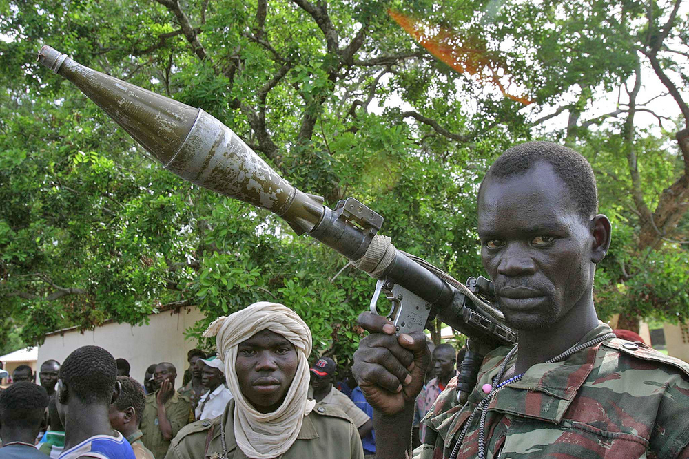 A rebel fighter in northern Central African Republic