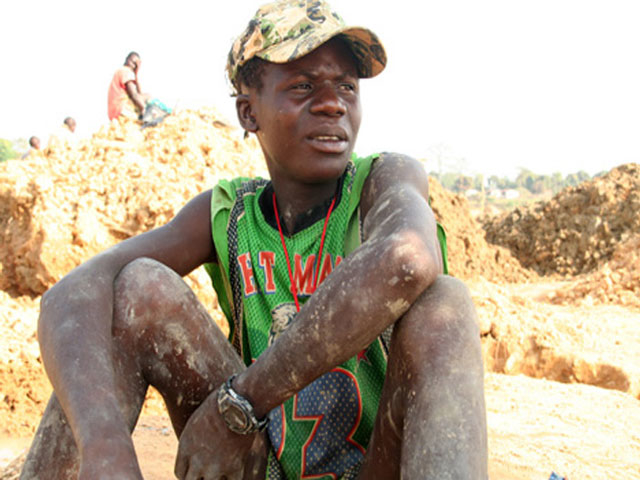 Child miner in Lagos, Nigeria