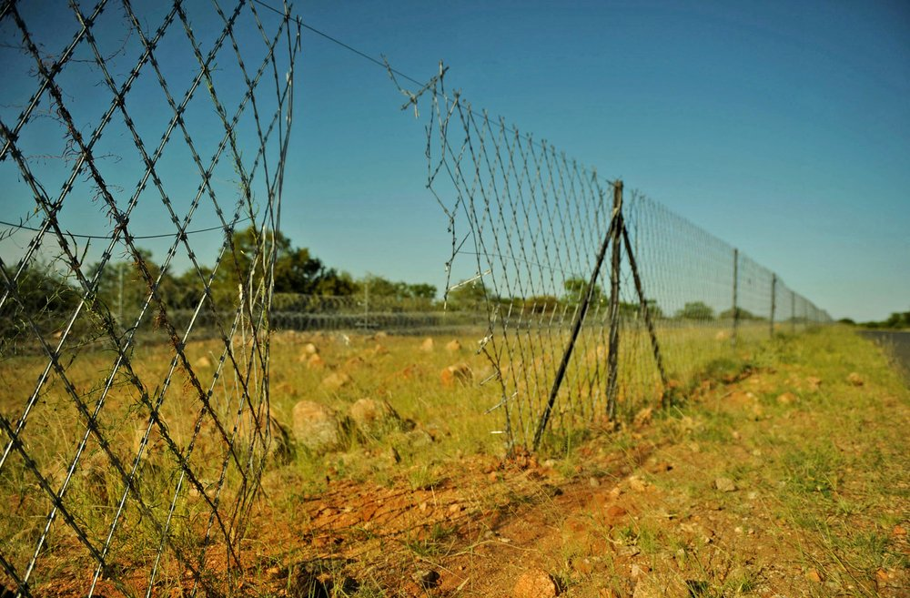 One of the many holes in the 250km razor wire fence along the Zimbabwe-South Africa border which allow easy access to would-be intruders