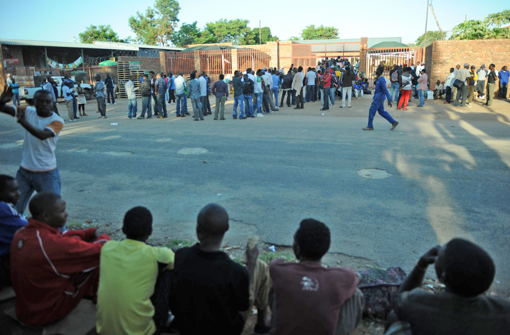 Refugee reception office in Musina, Limpopo Province, South Africa: It is one of just four in the country where asylum-seekers can apply for documentation
