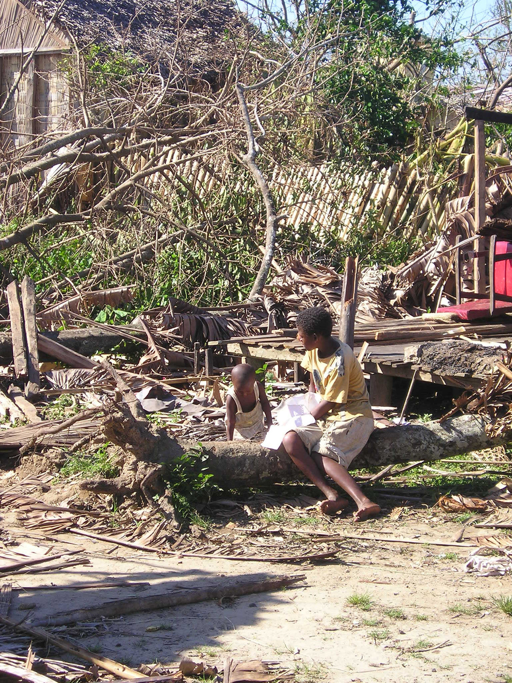 Cyclone Giovanna destroyed 70 percent of homes in Brickaville, on the east coast of Madagascar
