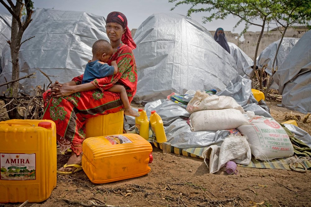 IDPs in the Wardhiglay area of Mogadishu, Somalia