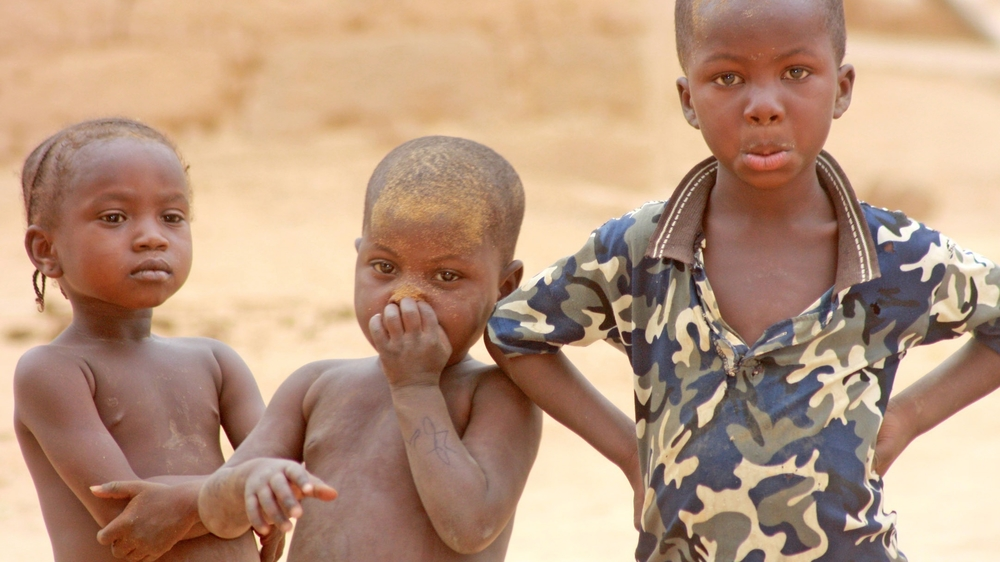 Children in the Banemate village in Oullam district in Niger's Tillaberi region have been living on wild fruits since last year