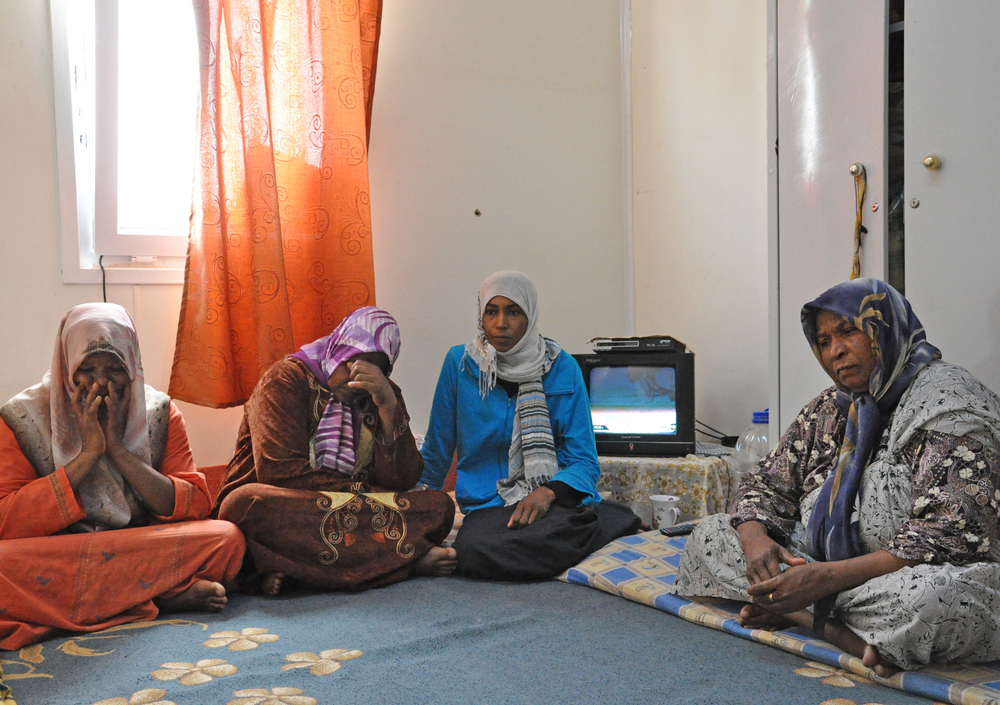 A group of women from Tawergha. Some say they have sons or family members who were taken by militias to detention centres in Misrata