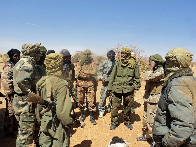 Tuareg rebels who want a separate secular state in northern Mali