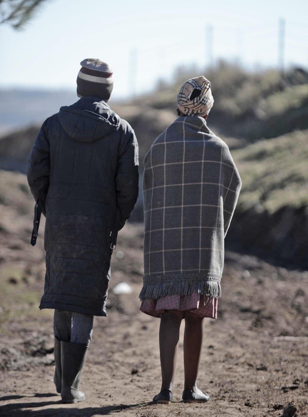 These two teenage girls were trafficked to South Africa for unpaid labour by the same woman from their village in Lesotho's southern Quthing district