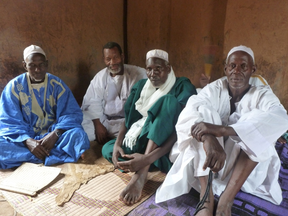 Members of the Association to promote livestock in the Sahel and Savane (APESS), including its Mali representative Ansigue Moussa Ouologuem. These pastoralists say not enough government or donor help for animal fodder or water has arrived in the north and