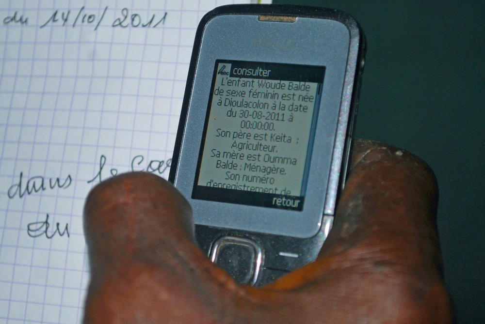 Mobile phone application for birth registration in Kolda, a remote region in the South of Senegal with low birth registration rate