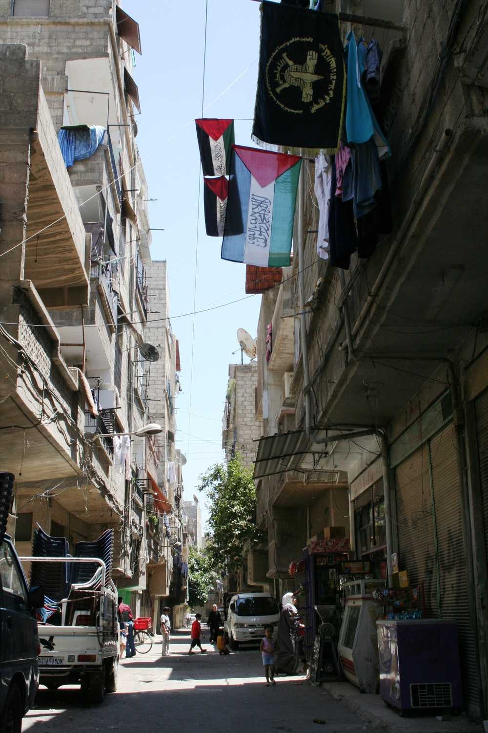 Yarmouk camp/district for Palestinian refugees in the Syrian capital Damascus. (Photo from 2007/8)