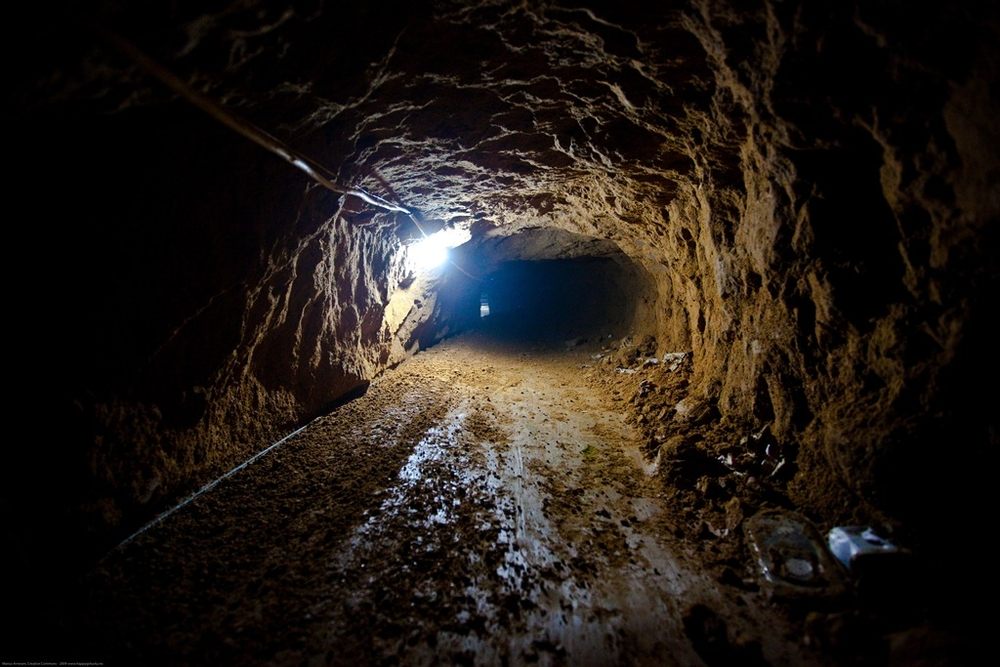 Underground tunnels at Rafah are the main channels through which goods are smuggled from Egypt into the Gaza Strip. Photo taken in 2009
