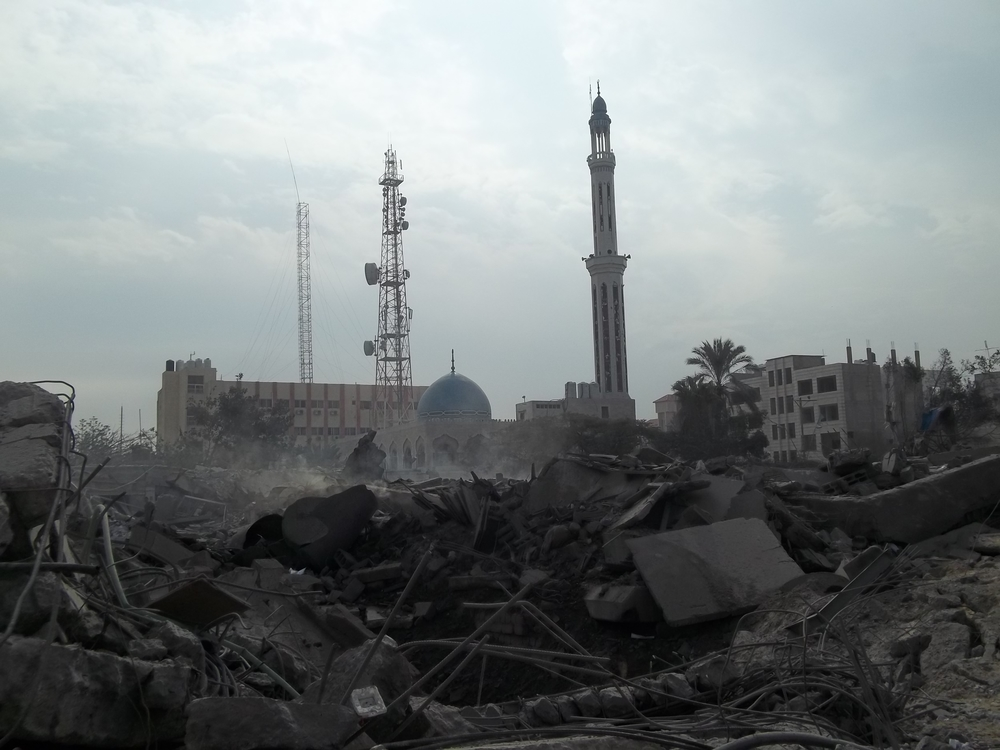 Gaza city after Israeli strikes - 22 Nov 2012