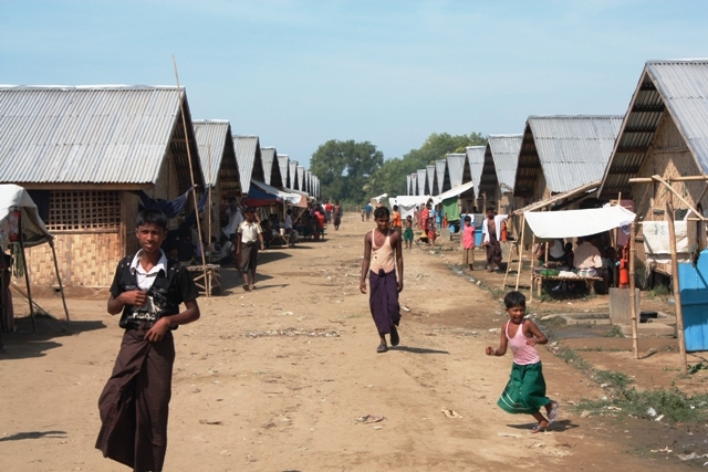 More than 100,000 Rohingyas were displaced in Myanmar's western Rakhine State following sectarian violence in June and October 2012. The vast majority of living in overcrowded camps like this one outside Sittwe