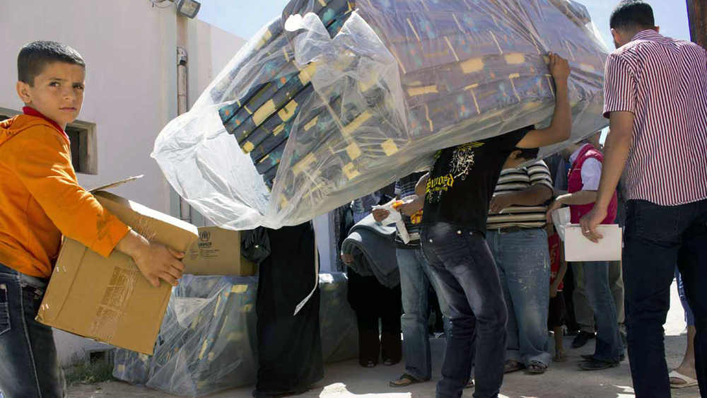 UNHCR deliver aid to Syrian refugees in Misrata, Libya