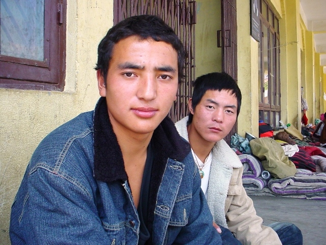 Two young Tibetan refugees look to the camera in Kathmandu. According to UNHCR, there are estimated 15,000 Tibetan refugees in Nepal today. More than half are undocumented