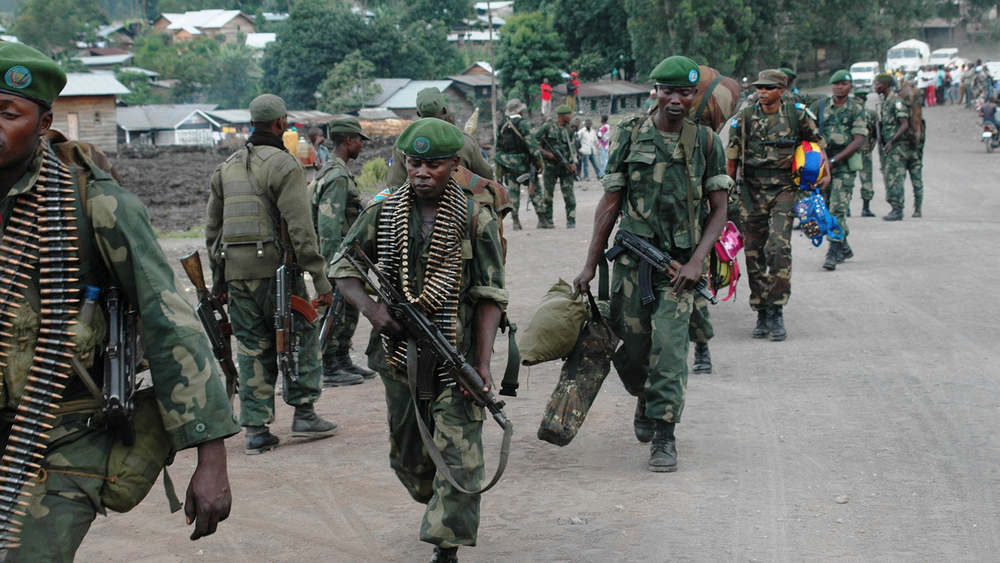 The Congolese National Armed Forces (FARDC) reinforce their positions around Goma following a second day (21 May 2013) of fighting against M23 elements in the town of Mutaho, about 10 km from Goma