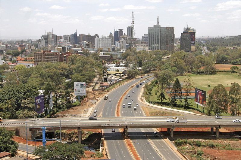 Nairobi's newly constructed Museum Hill Interchange. Chinese contractors have been involved in the building of major roads across the country.