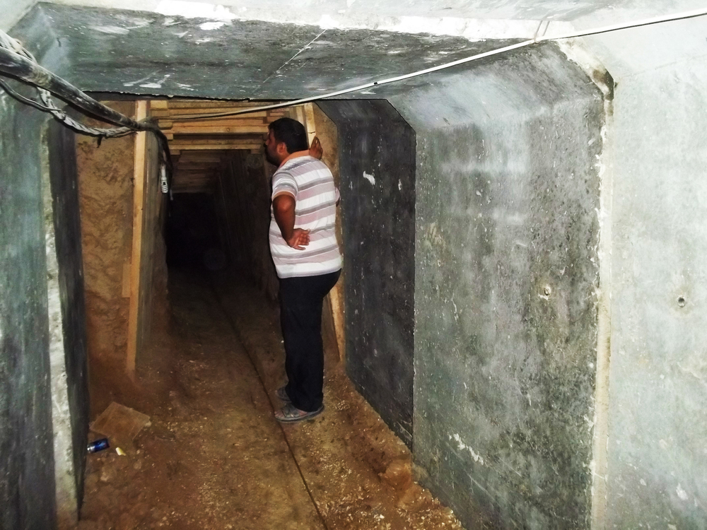 Once a busy tunnel from Gaza to Egypt is now out of business (Sept 2013)