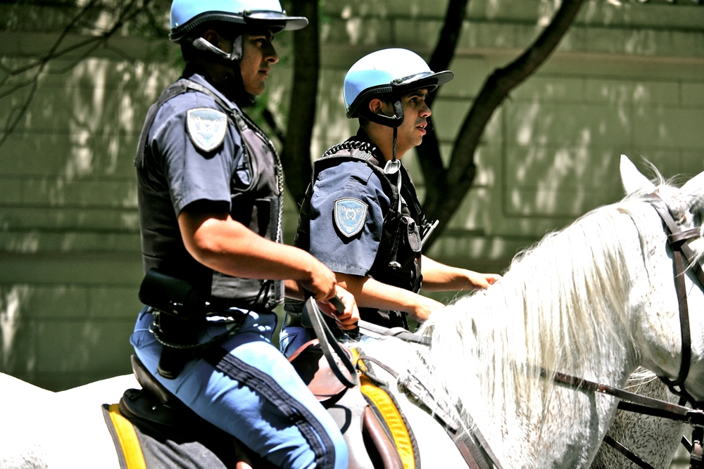 Police patrol in Buenos Aires, Argentina