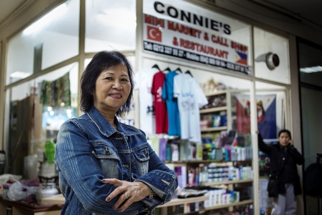 Connie Cruz, owner of Connie's Mini Market in Istanbul, has witnessed a three-fold increase in remittance levels through her shop in the wake of Typhoon Haiyan on 8 November 2013, a disaster that left almost 4,000 dead and millions affected