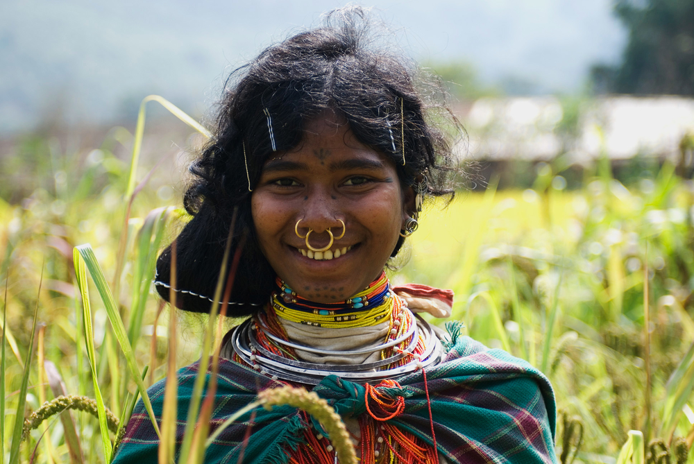 Indigenous girl from Kondh community in eastern India