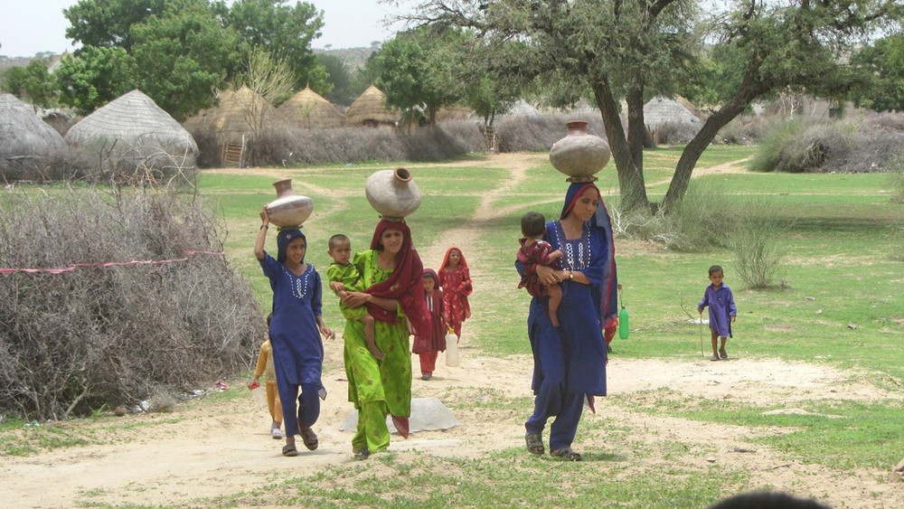 Fetching water in Pakistan's desert region of Tharparker takes up a significant part of the day.