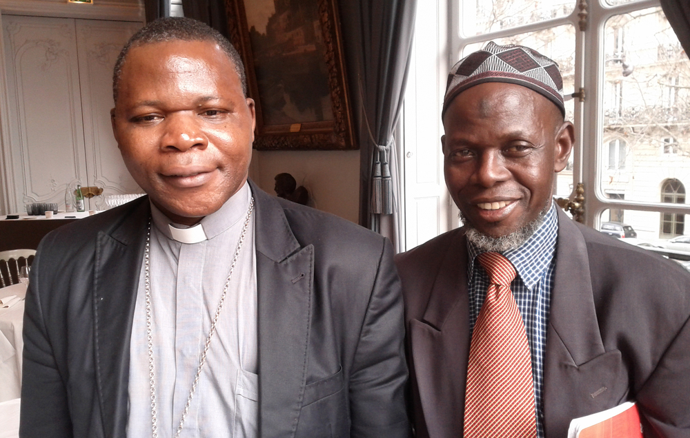CAR Roman Catholic Archbishop Dieudonne Nzapalainga and Imam Omar Kabine Layama