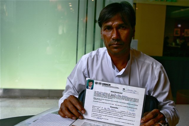 Abdul Kalam, 53, a Rohingya from Myanmar's western Rakhine State, arrived in Thailand more than 30 years ago, after escaping forced labour in his home village of Nalywah. He is still awaiting third country resettlement