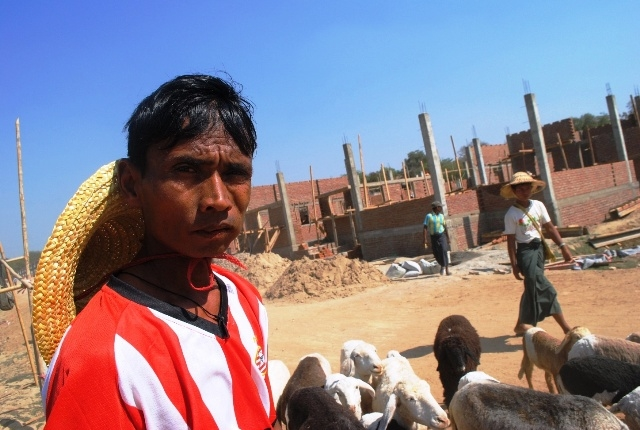 Phoe Ti, is a 35-year-old Muslim bricklayer now working to rebuild his home in Meiktila, the scene of deadly intercommunal violence on 20 March 2013