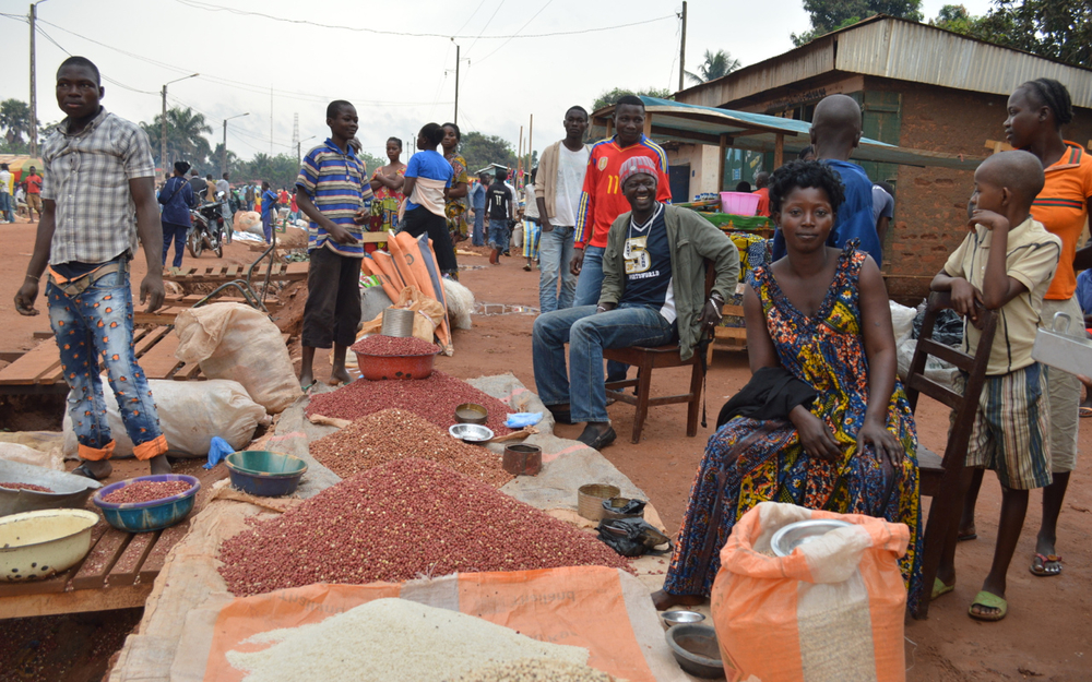 Chantal, a market seller in Bangui, Central African Republic. Violence in Central African Republic has seen many large traders and herders targeted and chased from the country, raising fears of a market collapse that would exacerbate the current food cris