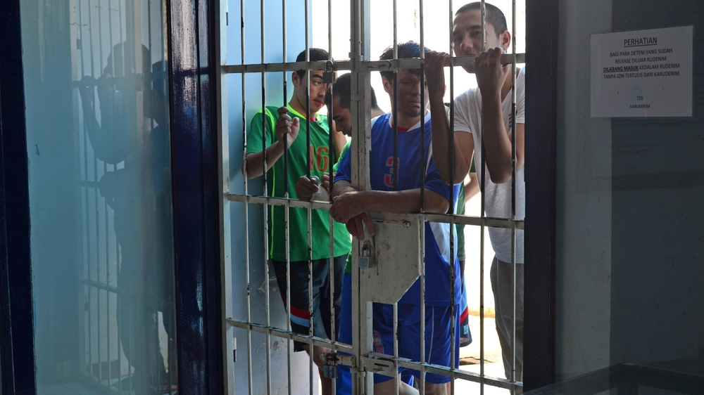 The detention centre in Makassar on Indonesia's Sulawesi Island, was holding 25 unaccompanied minors in one room when IRIN visited