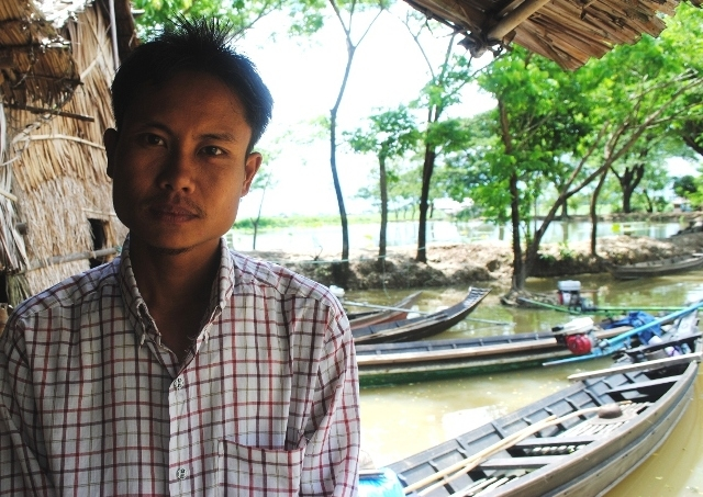 A resident of Ton Tay Township in southern Myanmar, which was badly affected by Cyclone Nargis in May 2008. Residents like him now take better notice of weather warnings now being issued