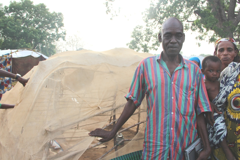 Abdou Abdoullahi was a driver in Bangui of Chadian descent. The Chadian military brought him and his 25-member family to Doyaba transit site where they have been living for three months. They have no shelter yet and sleep 10m from the overflowing toilets