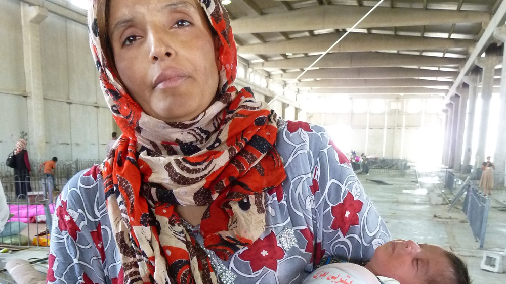 Samira Said, 27, fled Tikrit with her 20-day old baby for an agricultural shelter area next to the Baharka camp 5km north of Erbil, the capital of the northern semi-autonomous Kurdish region of Iraq, after the militant group ISIS (Islamic State of Iraq an