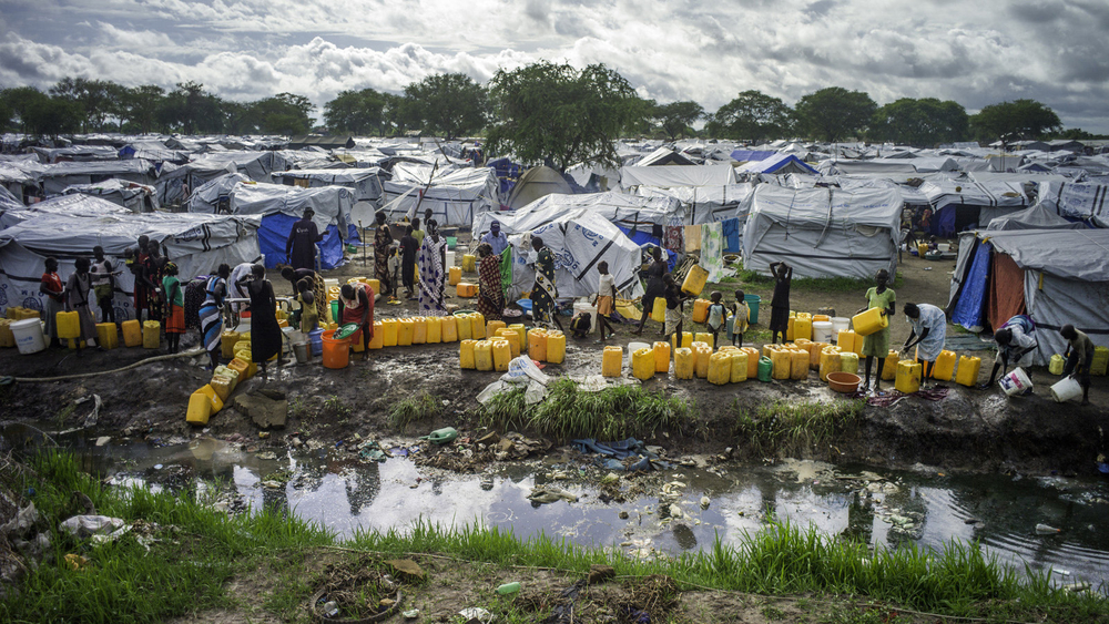 Oxfam water point, UN base, Juba, South Sudan