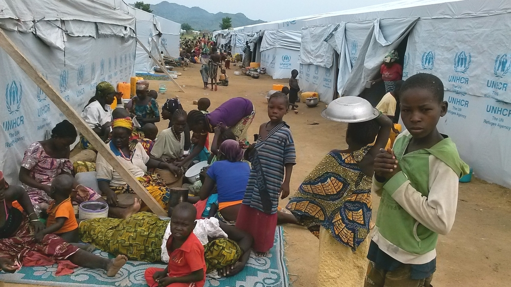 Refugees from northern Nigeria in Cameroon's Minawao camp