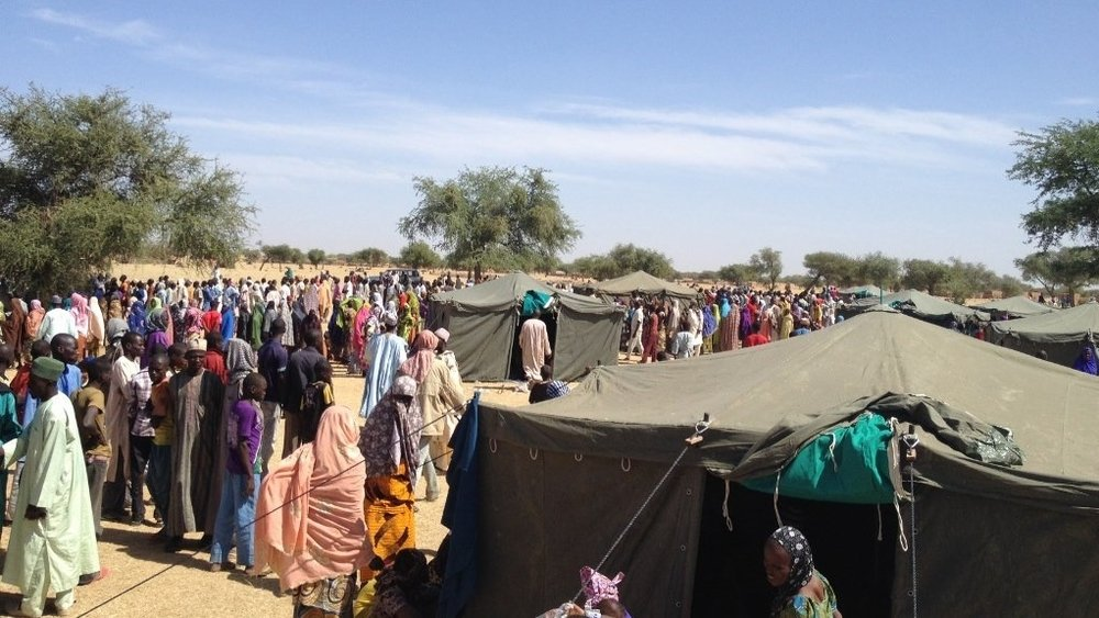 Displaced population at a refuge site in Niger's Diffa region. Boko Haram's worsening violence has forced tens of thousands to flee northeastern Nigeria to neighbouring countries.