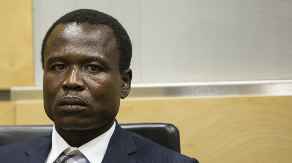 Dominic Ongwen appears at the ICC, January 2015