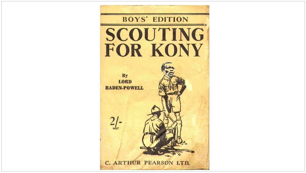 """Scouting for Kony"" mockup book cover"