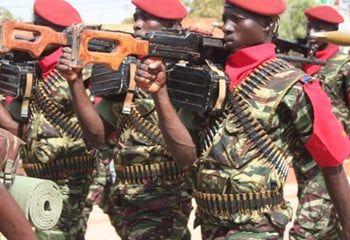 Soldiers on parade in Burkino Faso