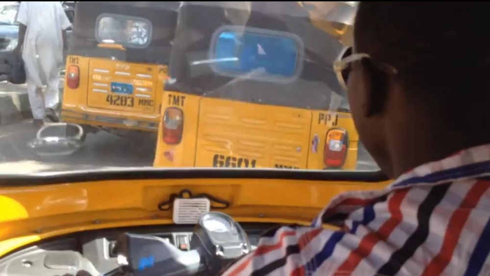 """Keke"" tricycle taxis in northeastern Nigerian city of Maiduguri"
