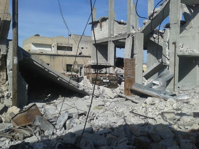 In the Syrian town of Kobani, hundreds of buildings were destroyed in a three-month battle for the city