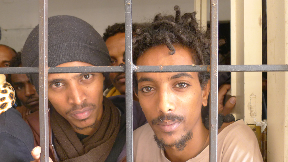 Emanuel and Jonata fled indefinite military conscription in Eritrea, only to find themselves in a Libyan detention centre
