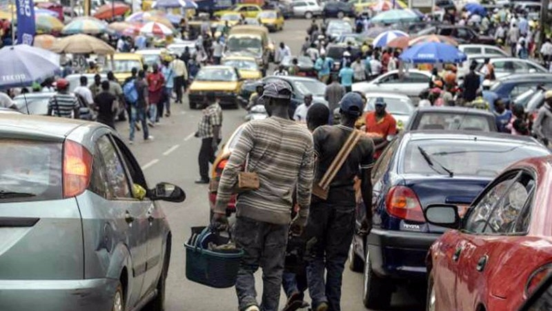 On the streets of Yaounde, it's common to see refugees selling their wares as they struggle to survive.