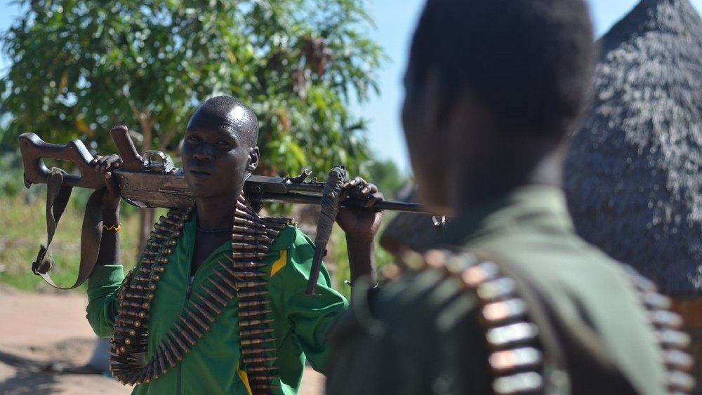 Rebel soldiers in Nyal, Unity State, South Sudan