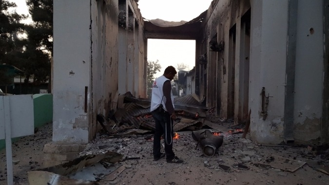 MSF hospital in Kunduz, Afghanistan, after the bombing